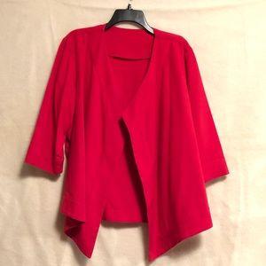 Jackets & Blazers - Red open front Blazer